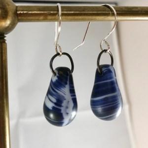 Africa blue earrings sterling