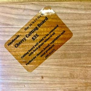 cherry cutting board