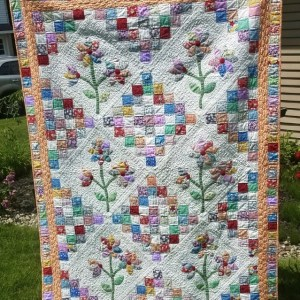 feed sack quilt flowers