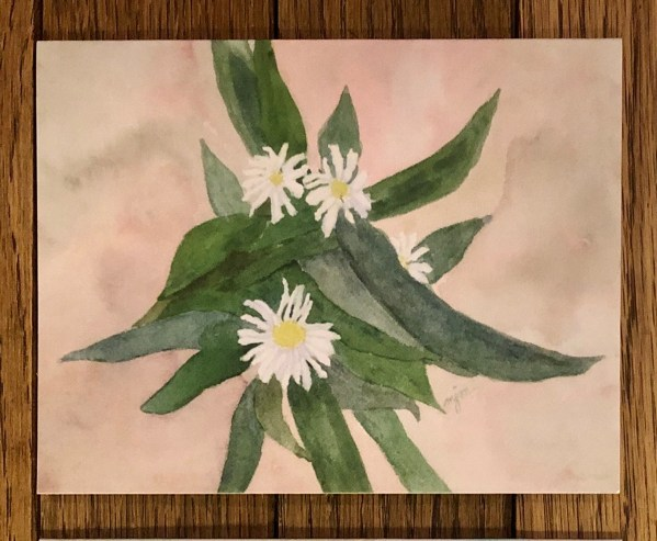flower note card