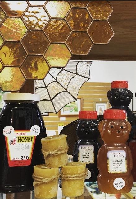 honey comb staind glass