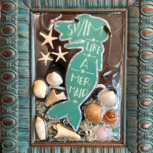 Mermaid Starfish and Shells made from Beach and Sea Glass