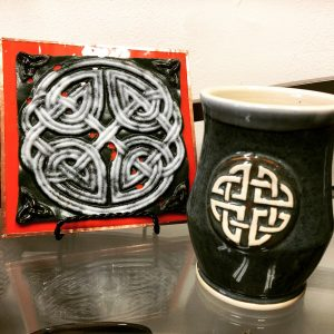 Glass Celtic Tile