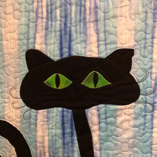 Black Cat Decoration Wall hanging quilt