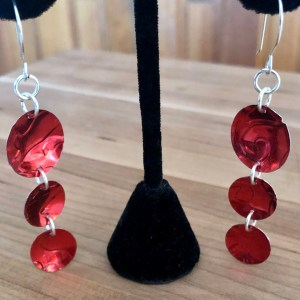 Tin Heart Earrings