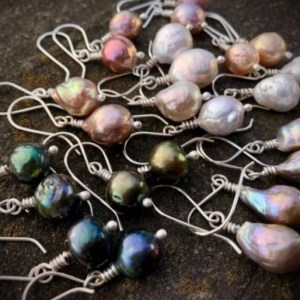 pearl earrings with sterling wires