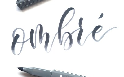 How to get the ombrè effect in Brush Pen Lettering | Artline Stix Brush Marker | Ombrè marker