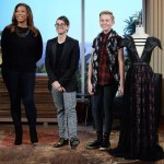 I was lucky enough to show this black leather dress on The Queen Latifah Show. It's one of my earlier pieces that I actually brought in for my Project Runway Junior audition, so it has a lot of sentimental value for me. - Matt Sarafa