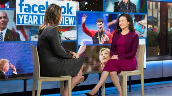 Facebook's COO Sheryl Sandberg speaks to Savannah Guthrie about the social network's busy year. (Samantha Okazaki / TODAY)