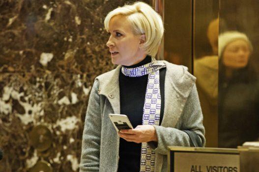 Mika Brzezinski spotted in Trump Tower. Photo: AP