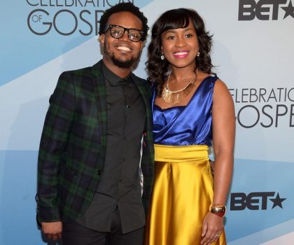 Travis Greene and Jacqueline Gyamfi Greene attend BET Celebration Of Gospel 2016 at Orpheum Theatre on January 9, 2016 in Los Angeles, California. (Photo Credit: Jason Kempin/Getty)