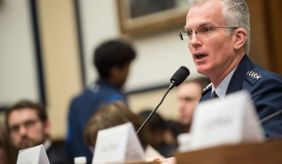 U.S. Air Force Gen. Paul J. Selva, Vice Chairman of the Joint Chiefs of Staff, testifies during a House Armed Services Committee hearing on Capitol Hill, March 7, 2017.