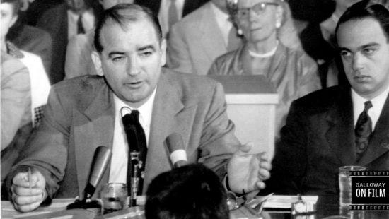 Sen. Joseph McCarthy, left (Photofest)
