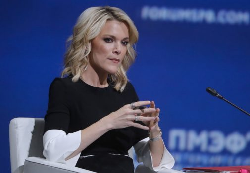 NBC News anchor Megyn Kelly moderates the plenary session of the 2017 St Petersburg International Economic Forum (SPIEF 2017) held at the ExpoForum Convention and Exhibition Centre. (Photo by Mikhail MetzelTASS via Getty Images)