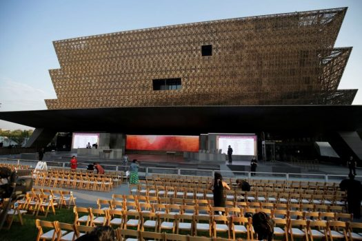 Preparations are made for the dedication of the Smithsonian's National Museum of African American History and Culture in Washington, U.S., September 24, 2016. (PHOTO: REUTERS/JOSHUA ROBERTS)