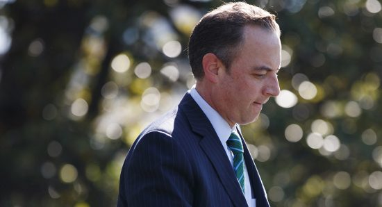 President Donald Trump's first deadline for the firing of Reince Priebus was the 100-day mark.   AP Photo