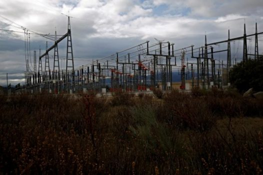 An electricity station with high-tension electricity power lines is seen in Galapagar, Spain, January 20, 2017. REUTERS/Juan Medina