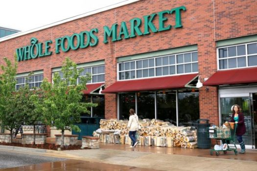 Customers leave the Whole Foods Market in Boulder, Colorado, U.S. on May 10, 2017.  REUTERS/Rick Wilking/File Photo