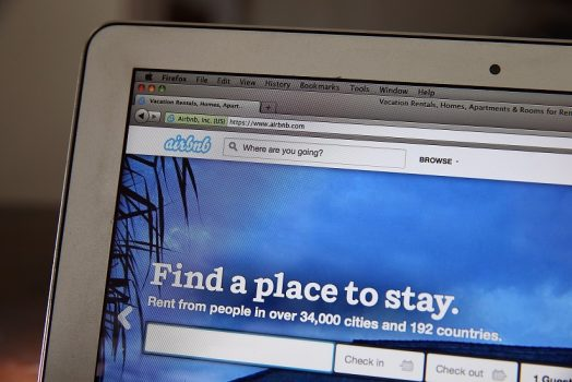 The Airbnb website is displayed on a laptop on April 21, 2014 in San Anselmo, California.  (Photo Illustration by Justin Sullivan/Getty Images)