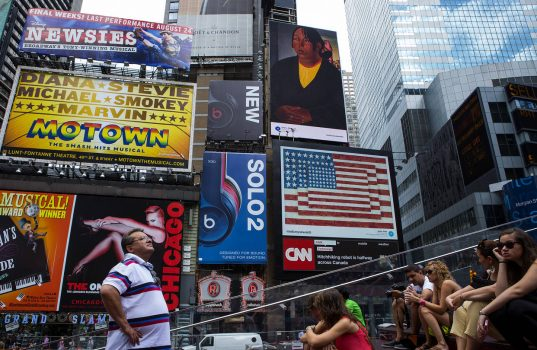 Websites cluttered with advertising can be chaotic and confusing, ad execs say, sometimes drawing comparisons to the cluttered billboards of Times Square. (PHOTO: GETTY IMAGES)