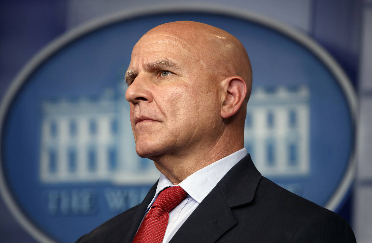 National Security Adviser H.R. McMaster listens during the daily press briefing at the White House, July 31. PHOTO: ASSOCIATED PRESS