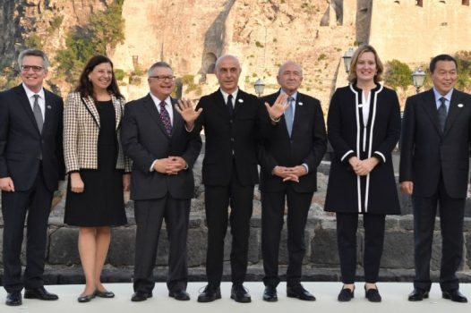 The G7 interior ministers are meeting at a seafront hotel on the island of Ischia off the coast of Naples. (AFP Photo/Andreas SOLARO)