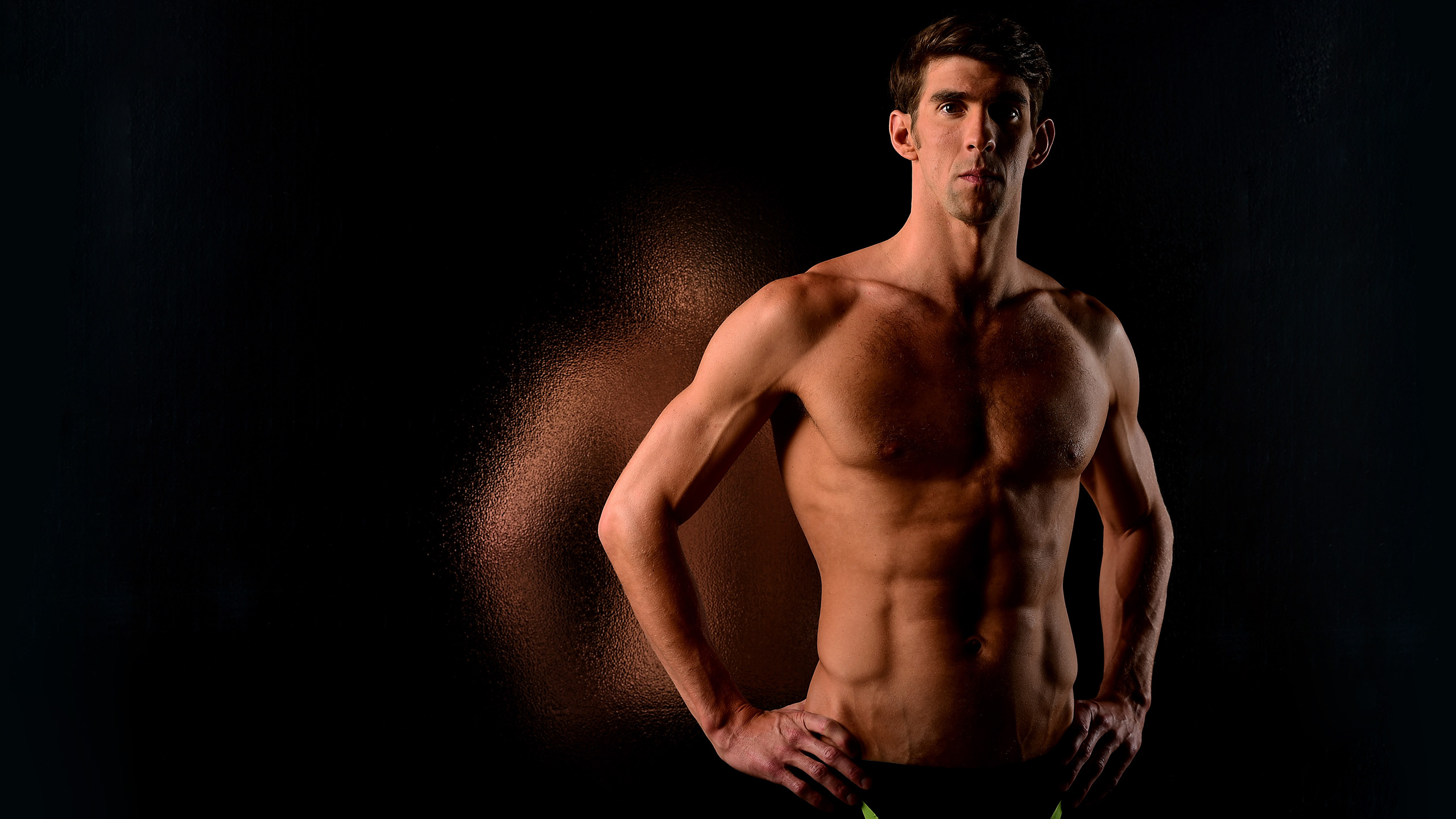 LOS ANGELES, CA - NOVEMBER 21:  Swimmer Michael Phelps poses for a portrait at the USOC Rio Olympics Shoot at Quixote Studios on November 21, 2015 in Los Angeles, California.  (Photo by Harry How/Getty Images)