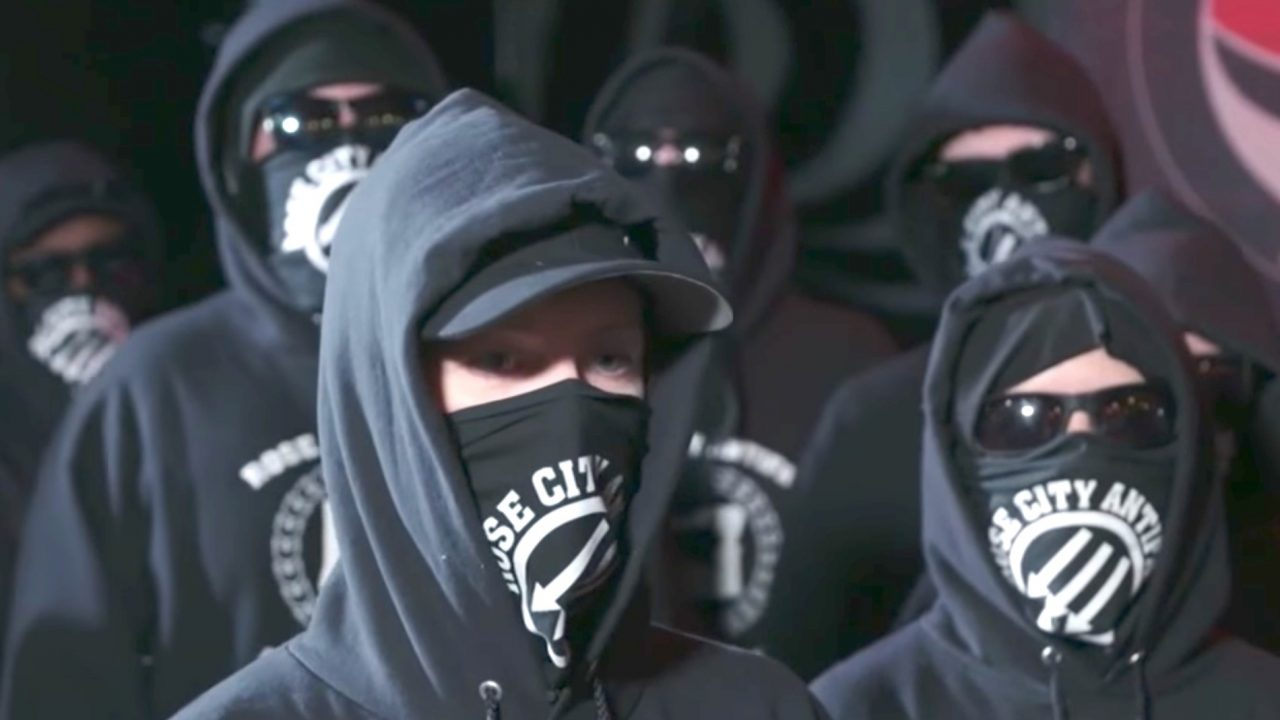 An Antifa group says it plans to protest on a daily basis until President Trump and Vice President Pence are ousted from office, beginning November 4. (Image Source: YouTube screenshot)