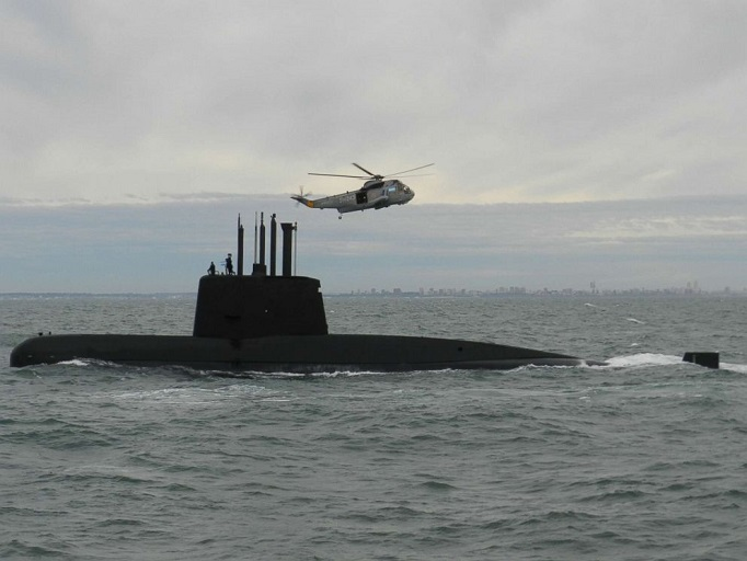 An undated handout photo of the ARA San Juan submarine, made available by the Argentine Navy, Nov. 17, 2017. (Argentine Navy Handout/EPA)