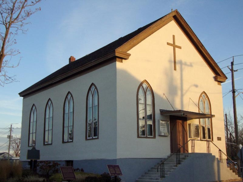 The church Harriet Tubman attended when she lived in St. Catharines, Ontario. (Photo courtesy of Salem Chapel British Methodist Episcopal Church)