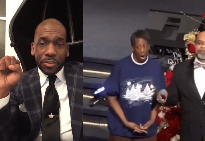 Pastor Jamal Bryant (L) of Northwest Baltimore's popular Empowerment Temple says the church is failing Christians like former prostitute Sonia Menzie (R).