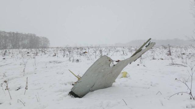 A view shows a scene where a short-haul regional Antonov AN-148 crashed after taking off from Moscow's Domodedovo airport, outside Moscow, Russia February 11, 2018. REUTERS/Stringer