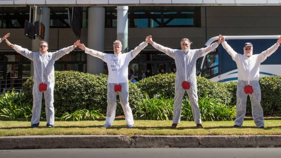 A group called Bloodstained Men & Their Friends will protest circumcision in Columbia on Monday, March 26, 2018. (Bloodstained Men & Their Friends)