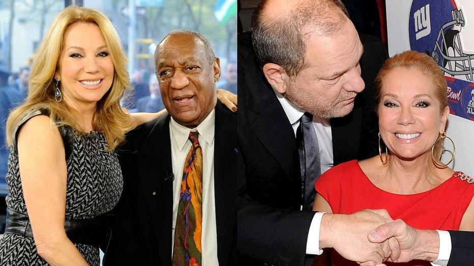 Kathie Lee Gifford with Bill Cosby and Harvey Weinstein