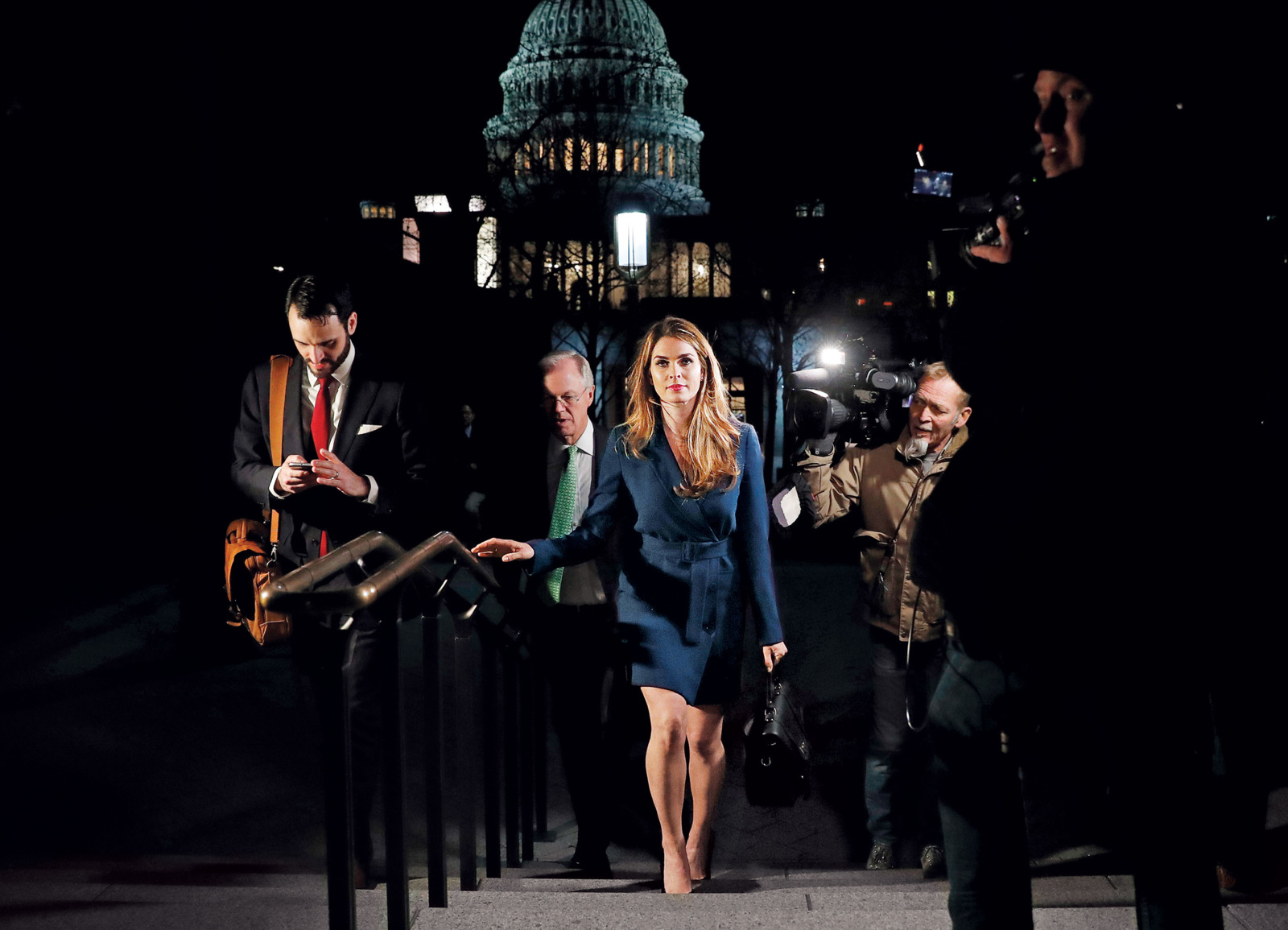 Hope Hicks leaving her interview with the House Intelligence Committee, February 27. Photo: Leah Millis/Reuters