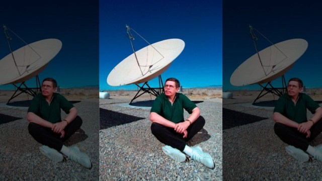 Art Bell, seen in this March 1997 photo, died Friday, Nye County Sheriff Sharon Wehrly confirmed. Bell's fans may pause to mull the significance of his having passed on Friday the 13th, of all days.  (Aaron Mayes/Las Vegas Sun via AP)