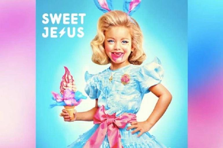 An ad for Sweet Jesus Ice Cream