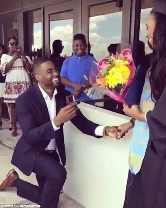 Attention: James Clark, 23, shared a video of his proposal to his partner Marquell on Twitter. Many viewers accused him of stealing her big moment.