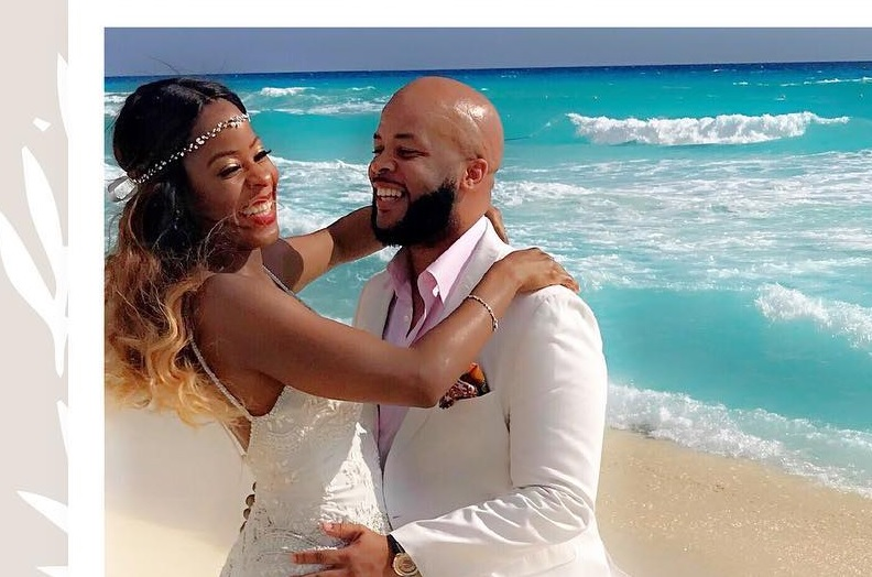 James Fortune and his new wife.