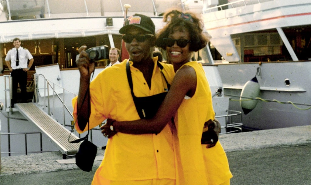 Bobby Brown and Whitney Houston in the documentary about her. (Credit: The Estate of Whitney E. Houston)