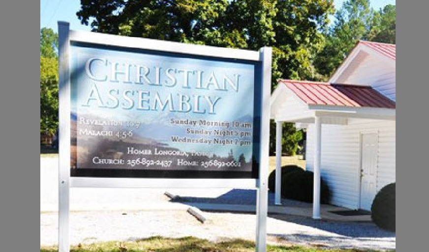 Ohatchee police say an 89-year-old woman was attacked at this church Sunday morning, Sept. 2, 2018. (Christian Assembly )
