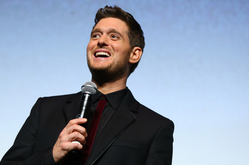 Michael Buble presents 'Tour Stop 148' during the 11th Rome Film Festival at Auditorium Parco Della Musica on October 14, 2016 in Rome, Italy. (Photo by Ernesto Ruscio/Getty Images)