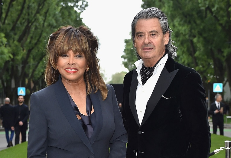 Tina Turner and Erwin Bach. (Jacopo Raule/Getty)