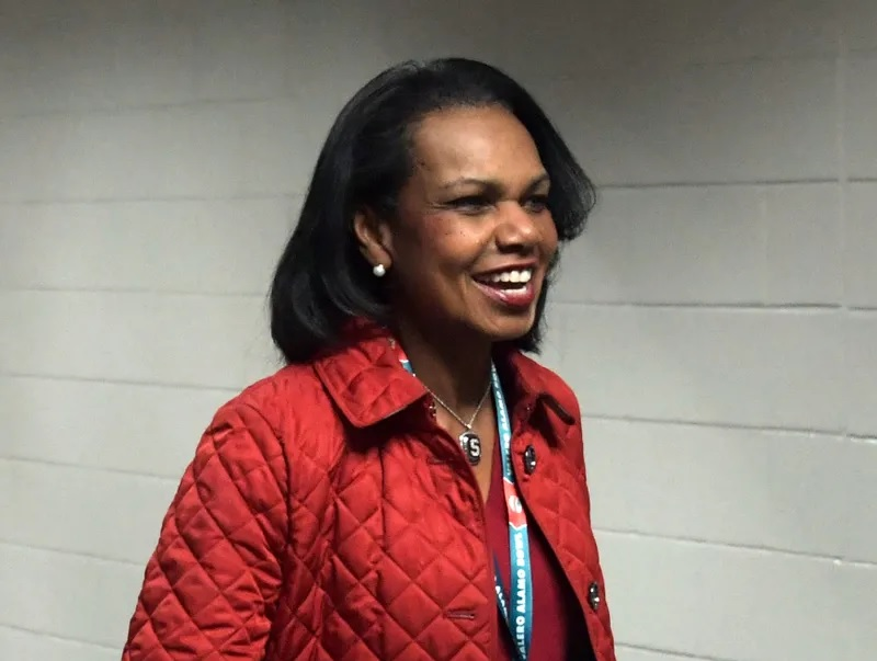 United States former secretary of state Condoleezza Rice attends  the 2017 Alamo Bowl between the Stanford Cardinal and the TCU Horned Frogs at Alamodome. (Photo: Kirby Lee, USA TODAY Sports)