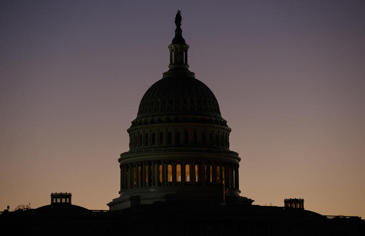 The U.S. Capitol Building Dome is seen before the sun rises in Washington, Tuesday, Dec. 18, 2018. (Carolyn Kaster / AP)