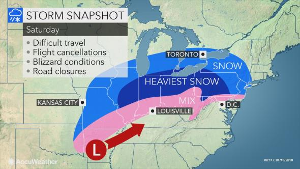 Blizzard to Dish Out Up to 40 Inches of Snow in Northeastern