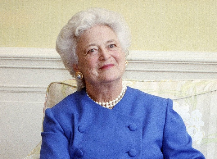 First lady Barbara Bush appears at the White House in 1990. (Doug Mills/AP)