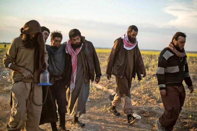 Defeated ISIS jihadis in Syria.
