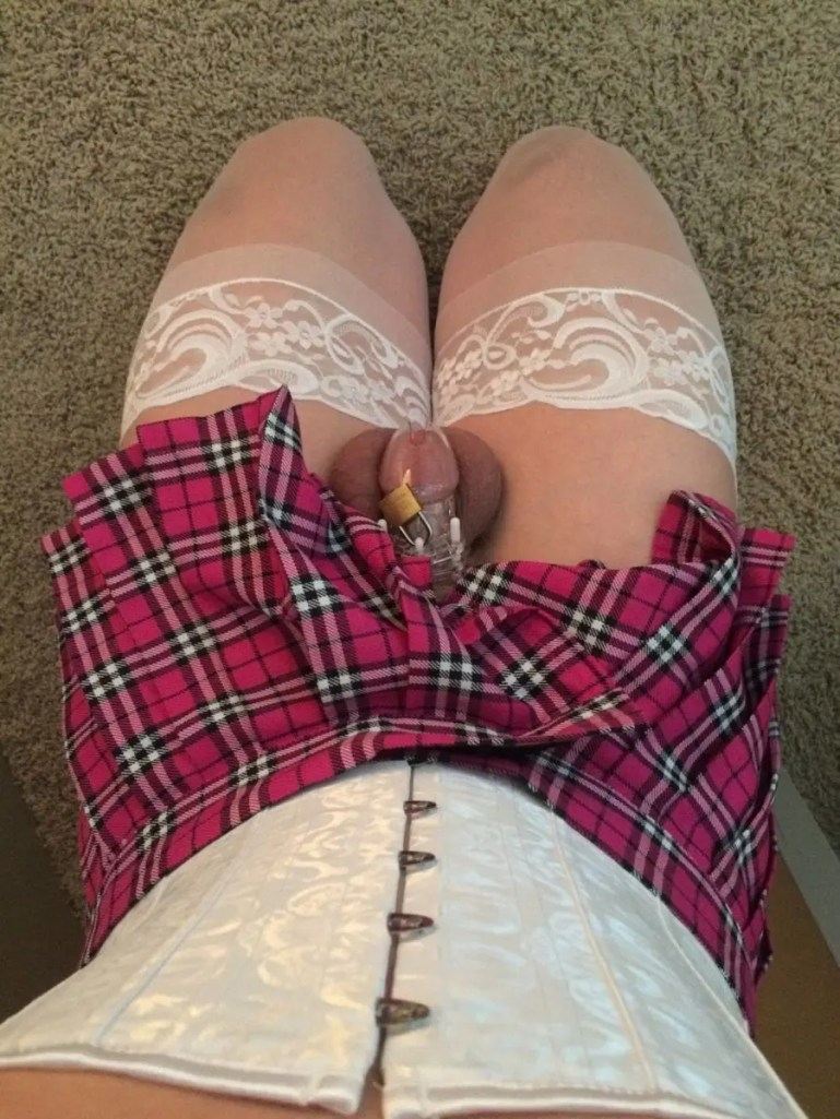 Permanent Chastity Is The Fate Of All Sissy White Bois - image  on https://blackcockcult.com