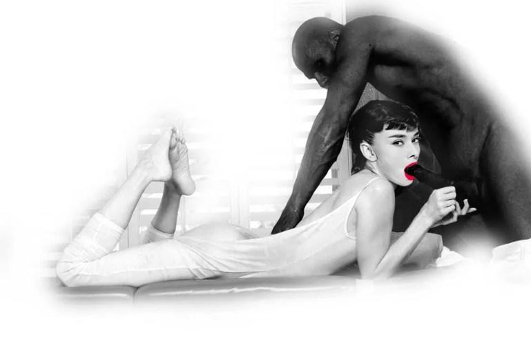 Black, White, And A Splash Of Color - image  on https://blackcockcult.com